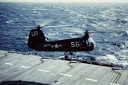 1954-55 Planeguard helicopter take off from CV32
