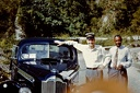 1955 February Lt (JG) Merrill and island tour driver in Jamaica - overheated Packard